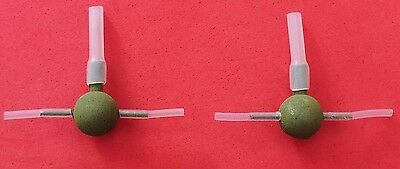 Set Of 2 Dinsmores Weighted Pellet Waggler Adaptors,choice Of Sizes,fishing
