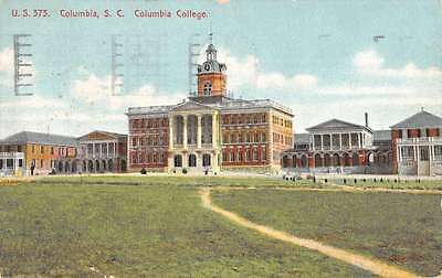 Columbia South Carolina College Street View Antique Postcard K41296