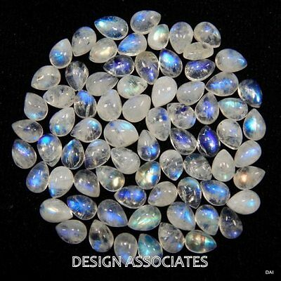 Natural White Moonstone 15X10 Mm Pear Cut Calibrated Commerical 1Pc