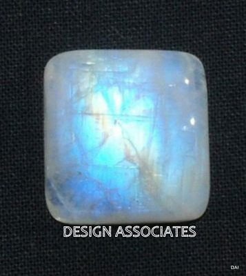 Natural White Moonstone 10 Mm Square Cushion Cut Calibrated Commercial 1 Pc