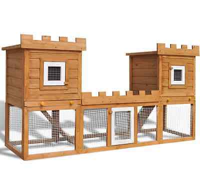 NEW Outdoor Large Rabbit Hutch House Pet Cage Guinea Pigs Home Hutches Wooden