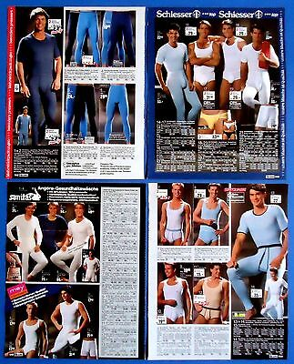 Men's Underwear Pajamas Ad Print  Catalog Clippings 18 pages  from 1988 - 1989
