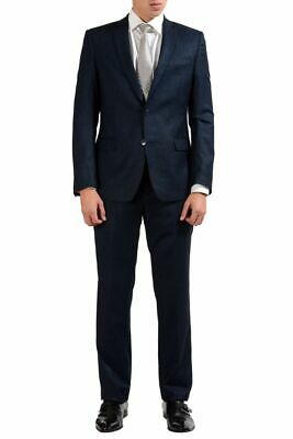 Versace Collection 100% Wool Navy Two Button Men's Suit Sz 38 40 42 44 46
