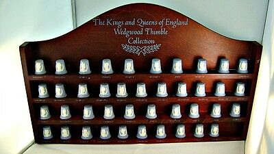Wedgwood Jasperware Kings & Queens Thimble Set W/ Wall Mount