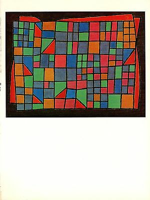 """COLOR offset Lithograph 1967 Vintage PAUL KLEE /""""THE LIGHT AND SO MUCH ELSE/"""" WOW"""