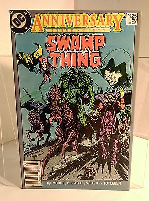Swamp Thing #50 (1982) 7.5 VF- Moore/Bissette 1st App of Justice League Dark