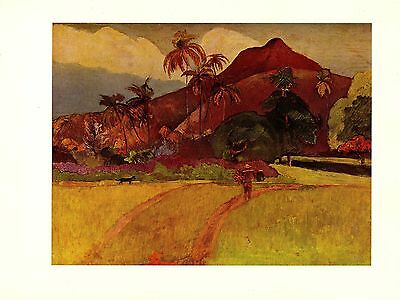 """BRITTANY/"""" GORGEOUS COLOR offset Lithograph 1972 Vintage GAUGUIN /""""THE SWINEHERD"""