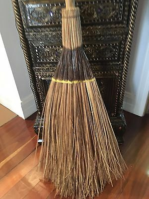 Halloween Witches Broom 1.67 Cm Length Bamboo Handle Wicked Witch Adult Child
