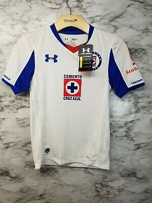 0958889b1c3 Under Armour Cruz Azul Liga MX Soccer Jersey Boys S New with tags 69$ White