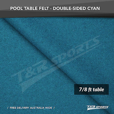 New! Cyan Double-Sided Wool Pool Snooker Table Cloth/felt Suits 7''&8''