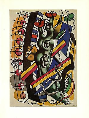 "1976 Vintage FERNAND LEGER /""MAN WITH A PIPE/"" FABULOUS COLOR offset Lithograph"