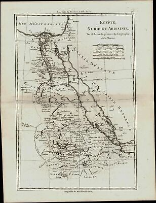 Egypt Nubia Abyssinia 1787 Red Sea Arabia Happy & Desert Mecca Medina shown