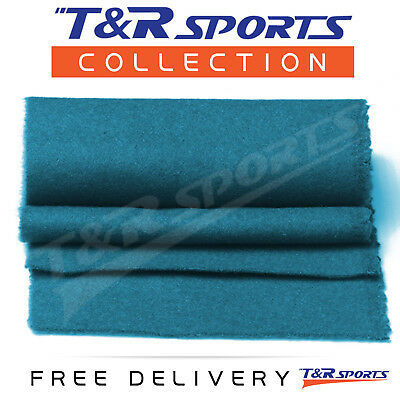New! 6 X Thick Cyan Double-Sided Wool Pool Table Felt Strips For Cushion