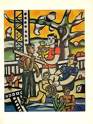 "1976 Vintage FERNAND LEGER /""STILL LIFE WITH AN ARM/"" WOW COLOR offset Lithograph"
