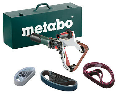 Metabo INOX 1,550w Electronic Pipe Belt Sander for Stainless Steel #RBE15-180SET