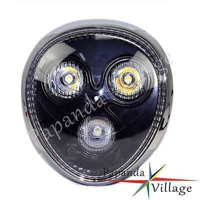 Motorcycle Street Fighter LED Head Light Headlight For Cafe Racer Chopper Bobber