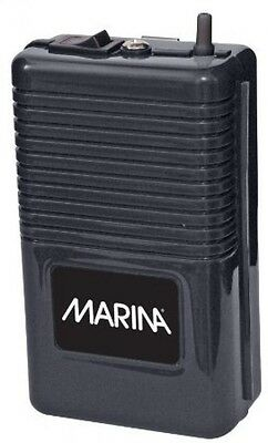 Marina Battery-Operated Air Pump Portable Easily clips onto Tank Black New