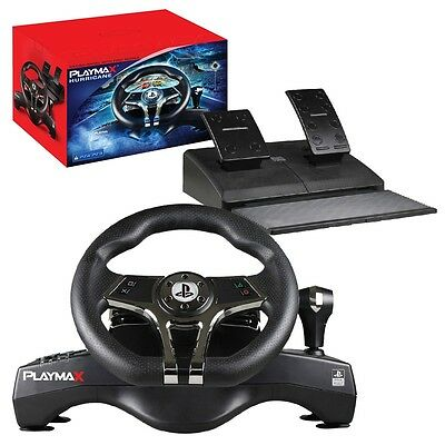 PLAYMAX Hurricane Steering wheel for PS4 and PS3 NEW - AUS Stock and Warranty