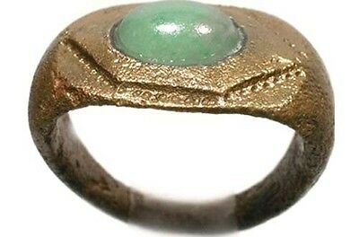 AD300 Ancient Roman Anatolia (Turkey) Ring Size 7½ + 19thC Antique 1½ct Jade Gem • CAD $415.24