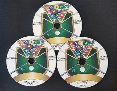 Mastering Pool Instructional Pool Billiards 3 Dvd Complete Set New Fast Shipping