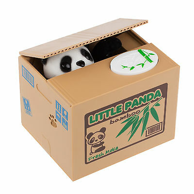 Cute Steal Coin Panda Style Piggy Bank Cute Money Bank Money Saving Box Kid Gift