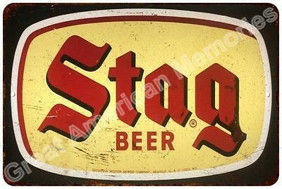 Stag Beer Vintage Reproduction Metal Sign 8x12 8123431