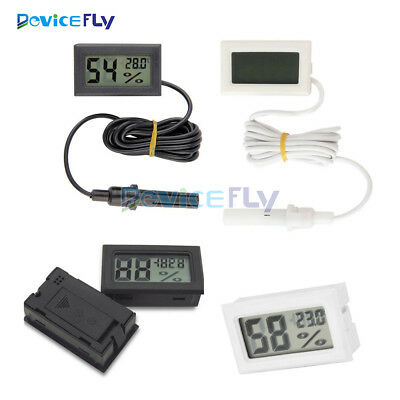 Mini Digital LCD Temperature Humidity Thermometer Outdoor Hygrometer Meter Probe