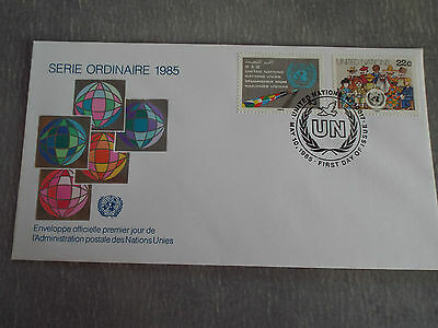 FDC ONU - UNO New York (USA) 10/05/1985 : Série courante