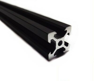 2020 V-Slot Aluminium Extrusion Black 1000mm 20x20 3D Printer CNC V Slot