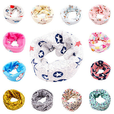 Warm Toddler Children Kids Boys Girls Baby O Ring Scarf Neck Scarves Shawl Wrap