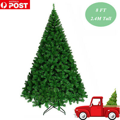 8FT 2.4M Green Christmas Xmas Tree Steel Stem Metal Stand Jupiter GRN240 1376Tip