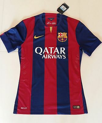 F.C. Barcelona 2014-15 NIKE 'Authentic' Home Short-sleeve Player-issue Shirt