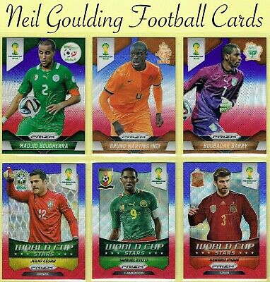 World Cup PRIZM 2014 ☆ BLUE & RED WAVE PARALLEL ☆ Football Cards