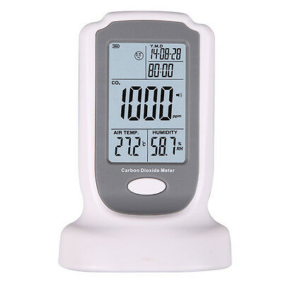GM8802 CARBON DIOXIDE CO2 Air Temperature Humidity DataLogger Meter Monitor LCD