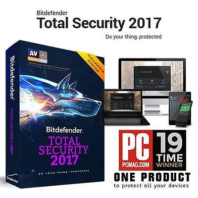 Bitdefender Total Security 2016 2017 3 Users 1 Year Licence Key 100% GENUINE