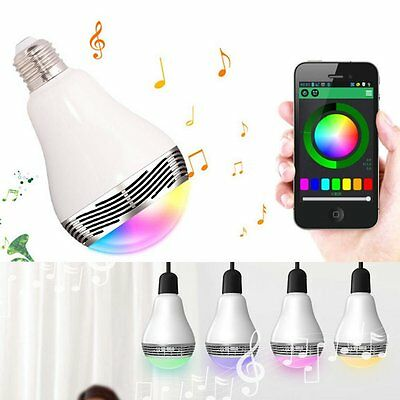 Wireless Bluetooth Speaker LED Light bulb with Free APP Controlled Smart Phone