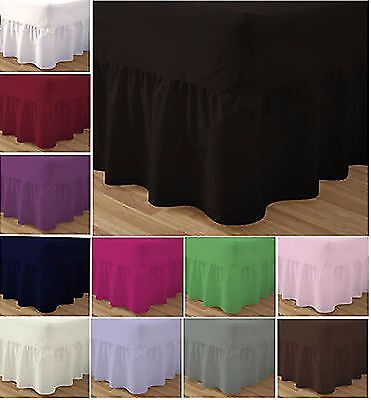 Valance Sheet Fitted Plat Cotton Base Bed Dyed Polyester Plain Cover Hotels Form