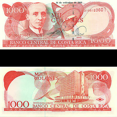 Banco Central de Costa Rica 1000 Colones 2005 P-264f 50 Consecutive notes UNC