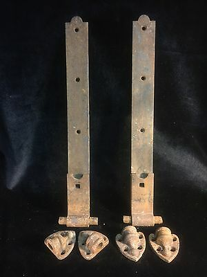 Antique Cast And Wrought Iron Hinges , Architectural Salvage Handle Door Knocker