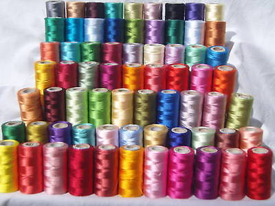 75 Spools  Embroidery Thread for Brother,Janome, Singer & more 75 nice Colours
