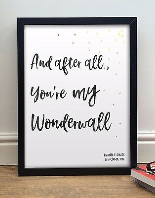 """Oasis """"You're My Wonderwall"""" 