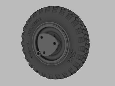 PANZER ART, RE34-381 FIVE ROAD WHEELS For GERMAN Sd Kfz 221 & 222 EARLY, 1:35