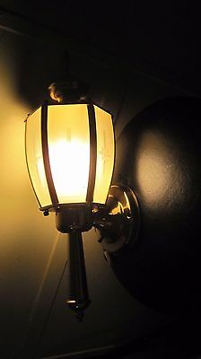 Vintage Etched Glass Wall Sconce Light Indoor/outdoor Home & Garden Fixture