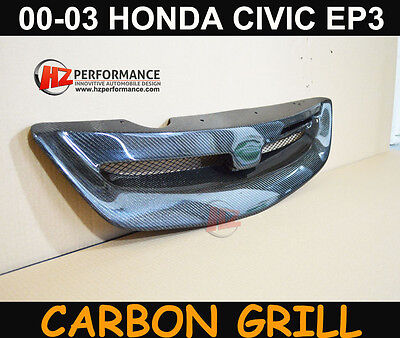 Honda Civic Ep2 Ep3 2000 To 2003 Carbon Fiber Front Grill Grille   Uk Stock