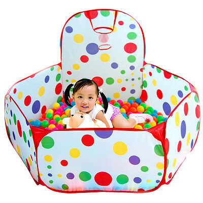 Portable Indoor Outdoor Kid Baby Children Game Play Toy Tent Ocean Ball Pit Pool