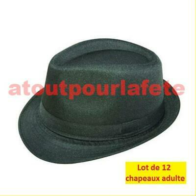 LOT A PRIX PRO: 12 Chapeaux de Blues Brothers adulte (feutre)