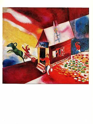 "1972 Vintage MARC CHAGALL /""RED ROOFS TOITS ROUGES/"" GREAT COLOR offset Lithograph"