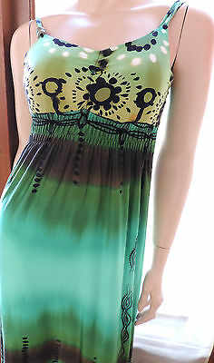 Pur Vintage 70  Robe Longue  Verte  Style  Maillot De Bain 38/40/  Long  Dress