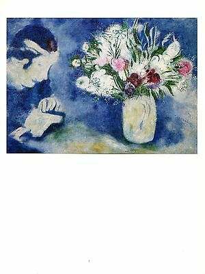 """1972 Vintage MARC CHAGALL /""""THE FIDDLER VIOLONISTE/"""" GREAT COLOR offset Lithograph"""
