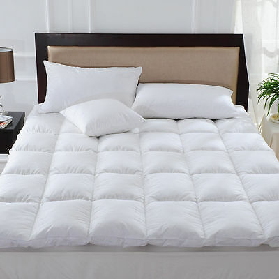 Luxuary Goose Feather & Down Mattress Topper With All Sizes